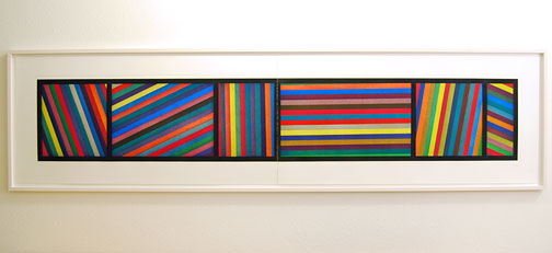 Sol LeWitt / Bands of Lines in Different Directions  1996  50.8 x 210.8 cm two part color   aquatint Ed. 36 und AP 5/8