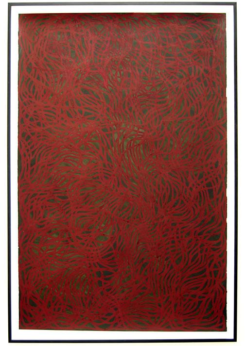 Sol LeWitt / Irregular Grid  2001  237.5 x 153.7 cm gouache on paper