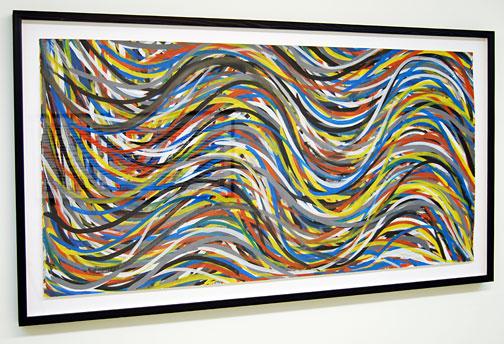 Sol LeWitt / Wavy Horizontal Brushstrokes  1995  78.7 x 153.7 cm gouache on paper
