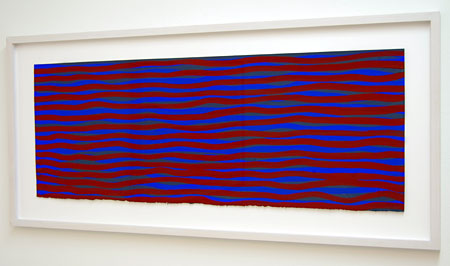 Sol LeWitt / Horizontal Bands (More or less)  2003  28 x 75.8 cm gouache on paper