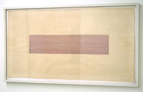 Sol LeWitt / Black, Red and Blue  1969 color ink on paper 48 x 88 cm  Privatsammlung nicht verkäuflich