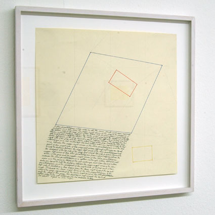 Sol LeWitt / Location Drawing  1976 pencil and color ink on paper 31.8 x 31.8 cm   Privatsammlung nicht verkäuflich