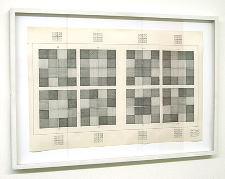 Sol LeWitt / Eight Examples,  from Set IB 1968  1973 pencil and ink on paper 27.5 x 44 cm  Privatsammlung nicht verkäuflich