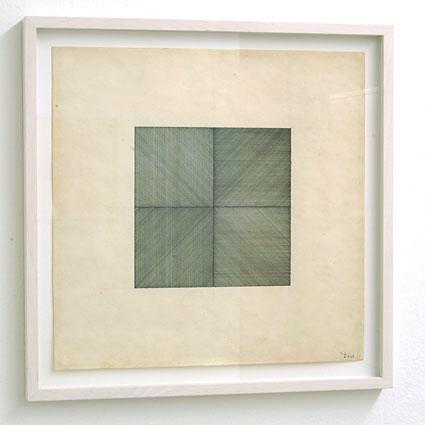 Sol LeWitt / Lines in Four Directions  1969 pencil and ink on paper 30.5 x 30.5 cm  Privatsammlung nicht verkäuflich