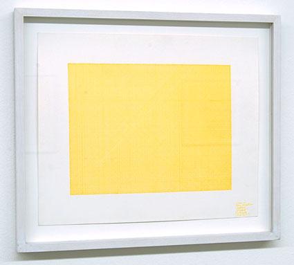 Sol LeWitt / Lines in Four Directions (Yellow)  1971 yellow ink on paper 22.5 x 27.5 cm  Privatsammlung nicht verkäuflich