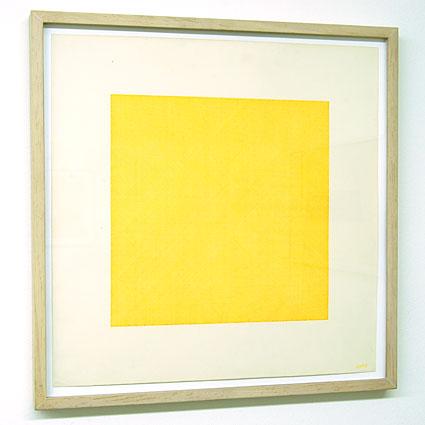 Sol LeWitt / Lines in Four Directions Superimposed  1971 yellow ink on paper 45.5 x 45.5 cm  Privatsammlung nicht verkäuflich