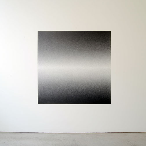 """Sol LeWitt / Scribble Wall Drawing #15  2007  graphite 152.4 x 152.4 cm / 60 x 60""""  first drawn by: Nicolai Angelov  first installation: Annemarie Verna Galerie, Zürich 2009  Tageslicht von links"""