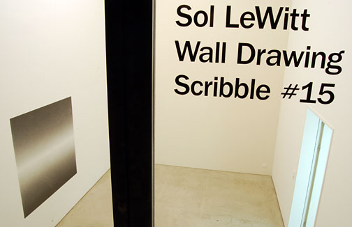 Sol LeWitt / Wall Drawing Scribble #15, 2007