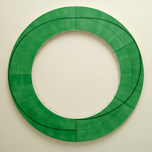 "Robert Mangold / Robert Mangold Ring Image J  2010  152.4 x 152.4 cm  /  60 x 60 "" Acrylic and pencil on canvas"