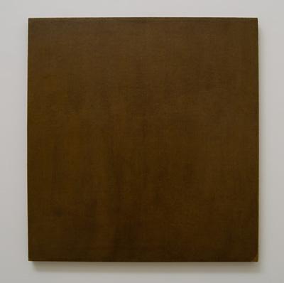 Jerry Zeniuk / Jerry Zeniuk Untitled (for Nr. 61)  1976  81 x 76 cm Oel und Wachs auf Leinwand