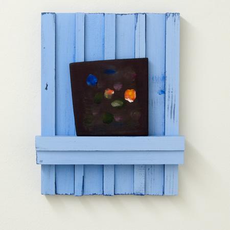 Joseph Egan / Joseph Egan dark horse  2011  37.2 x 29.8 x 6.1 cm various paints on wood