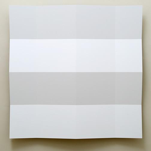 Andreas Christen / Andreas Christen Untitled  2003  160 x 160 cm MDF-Platte, weiss gespritzt (Nuvovern DS 10.1)