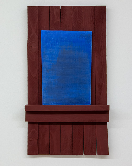 Joseph Egan / Joseph Egan true blue  2012 50 x 28 x 6 cm various paints on wood