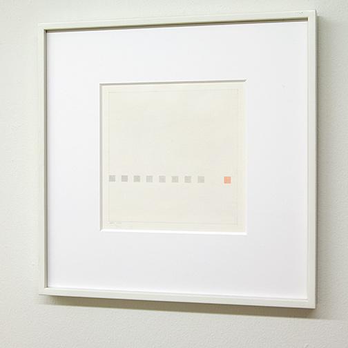 Antonio Calderara / Antonio Calderara Piccola storia di nove quadrati   1971  22 x 22 cm Aquarell und Bleistift auf Papier