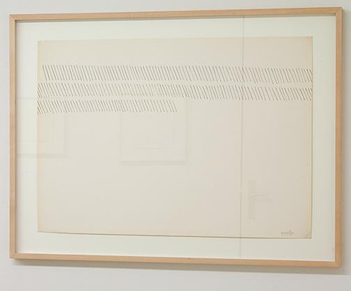 Giorgio Griffa / Giorgio Griffa Senza Titolo  51 x 72 cm ink on paper