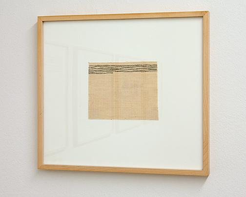 Giorgio Griffa / Giorgio Griffa Senza Titolo   1975  12.5 x 16 cm acrylic on canvas