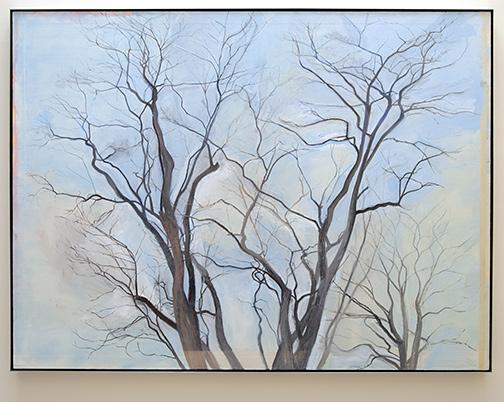 Sylvia Plimack-Mangold / Sylvia Plimack Mangold The Locust Trees   1988  152.4 x 203.2 cm   oil on linen