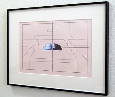 Giulio Paolini / Studio per «Aula di disegno»  2005  30 x 42 cm Tinte und Collage auf Millimeterpapier