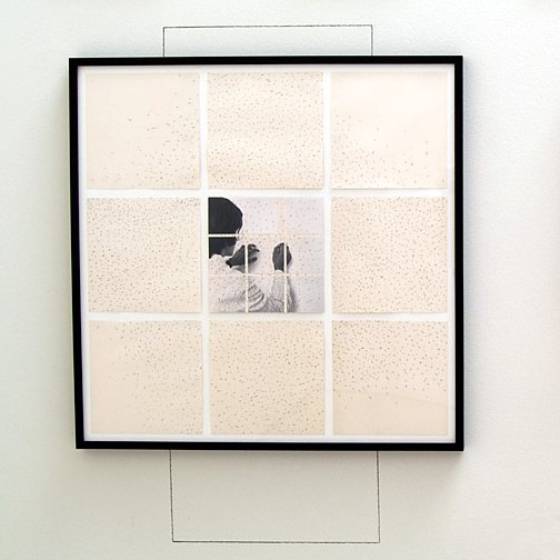 Giulio Paolini / Da «Vedo (La decifrazione del mio campo visivo)»  1969  75 x 75 cm Fotografie und Bleistift auf Papier