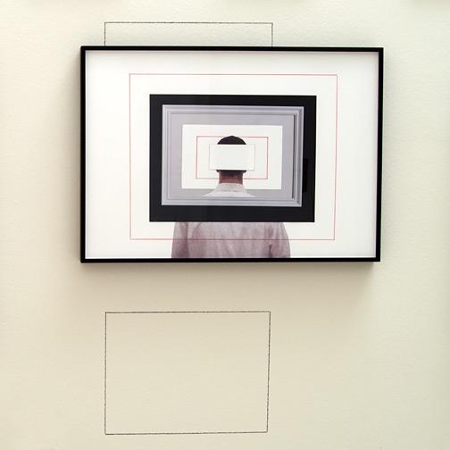 Giulio Paolini / Studio per «Dopo tutto»  2009  50 x 70 cm Fotografie, Farbstift und Collage auf Papier
