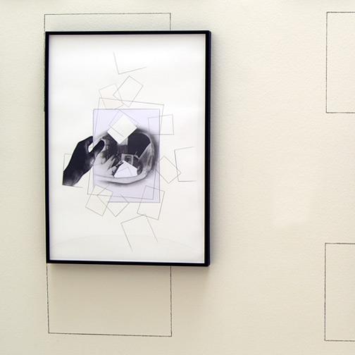 Giulio Paolini / Studio per «Immacolata Concezione»  2008  70 x 50 cm Bleistift und Collage auf Papier