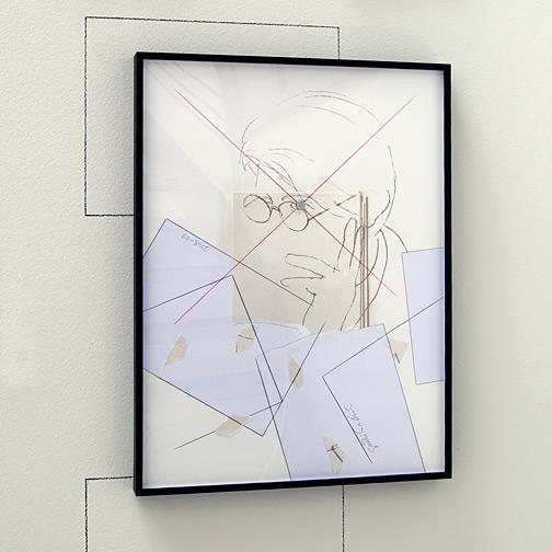Giulio Paolini / Senza titolo (Studio per Autoritratto)  2008 -2009  64 x 48 cm Farbstift, Bleistift und Collage auf Papier