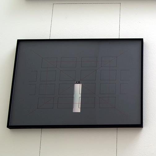 Giulio Paolini / Il rosso e il nero  2006  50 x 70 cm Farbstift, Bleistift und Collage auf Papier