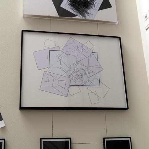 Giulio Paolini / Quadri di un'esposizione  2002  60 x 80 cm Bleistift und Collage auf Papier