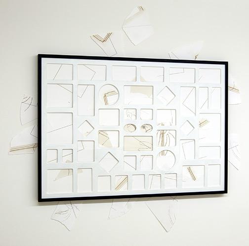 Giulio Paolini / Senza titolo  1998 - 2009  70 x 100 cm Bleistift und Collage auf Papier und auf der Wand
