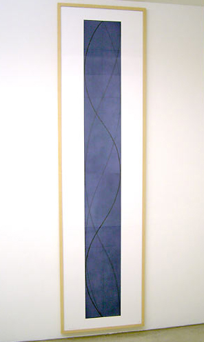 Robert Mangold / Robert Mangold  Tall Column A (Dark Blue)  2005  217.2 x 55.9 cm etching / aquatint  Ed. 10/35