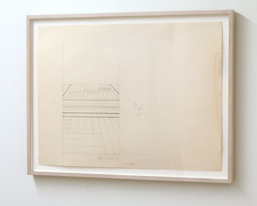 "Sylvia Plimack Mangold / Sylvia Plimack Mangold Study for ""Hallway""  1969  45.7 x 61 cm pencil on paper"