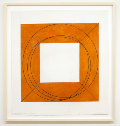 Robert Mangold / Robert Mangold Framed Square with Open Center IV 1st version  2013  81.3 x 75.6 cm pastel and pencil on paper