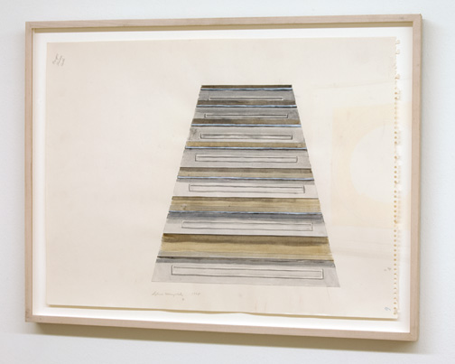 Sylvia Plimack Mangold / Sylvia Plimack Mangold Untitled (staircase)  1968  45.7 x 61 cm acrylic and pencil on paper