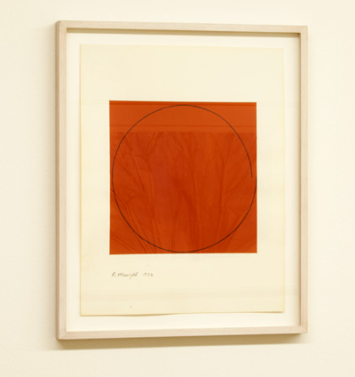 Robert Mangold / Robert Mangold Distorted circle within a orange square  1972  35.6 x 28 cm   acrylic on paper