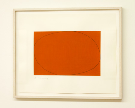 Robert Mangold / Robert Mangold Distorted Ellipse / Rectangle  1972  38.3 x 45.5 cm acrylic and pencil on paper