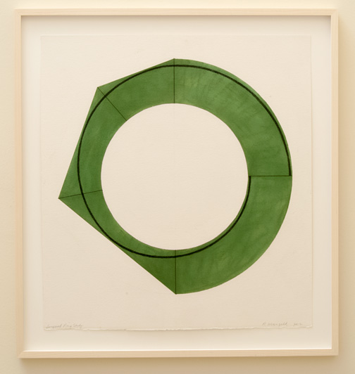 Robert Mangold / Robert Mangold Compound Ring Study  2012  76.2 x 70.5 cm pastel and pencil on paper