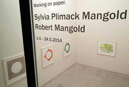Robert Mangold,  				Sylvia Plimack Mangold, Working on Paper