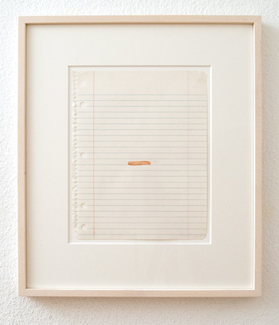 Richard Tuttle / Confirmation Series (10)  1976  25.4 x 20.2 cm pencil and gouache /  brown on paper