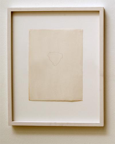 Richard Tuttle / Belmore  1971 27.9 x 21.8 cm pencil on paper