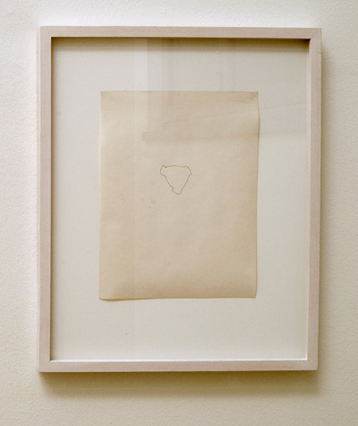 Richard Tuttle / Belmore  1971 27.9 x 21.8 cm pencil on paper