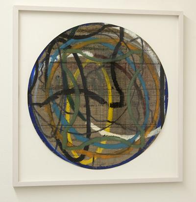 David Rabinowitch / Untitled  2009  48.3 x 47.6 cm oil pastel, pencil on Belgian linen