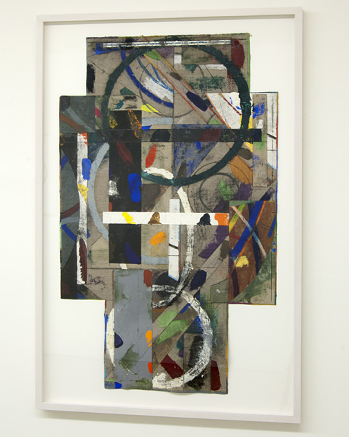 David Rabinowitch / Untitled  2009  99.1 x 59.7 cm oil pastel, acrylic, oil paint, beeswax with charcoal, pencil, collage on linen
