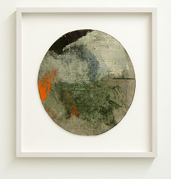 David Rabinowitch / Withdraw and Return  2009  22.9 x 21.6 cm oil paint, beeswax with charcoal on Belgian linen