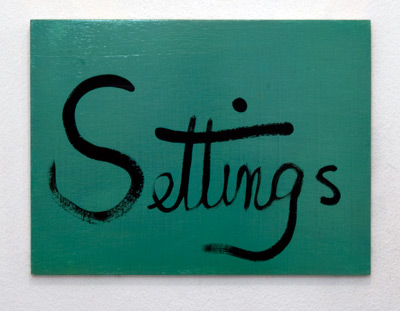 Ree Morton / Ree Morton Settings (Signs of Love)  1976  33 x 43 cm Oil on plywood