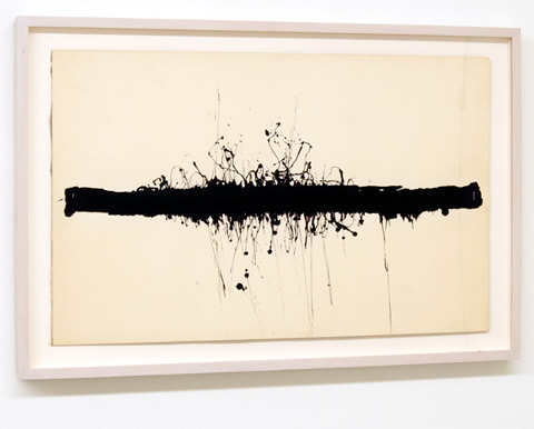 Ree Morton / Ree Morton Untitled (Black Horizontal)  1968 - 1970  35.6 x 55.9 cm Ink and collage on paper on board