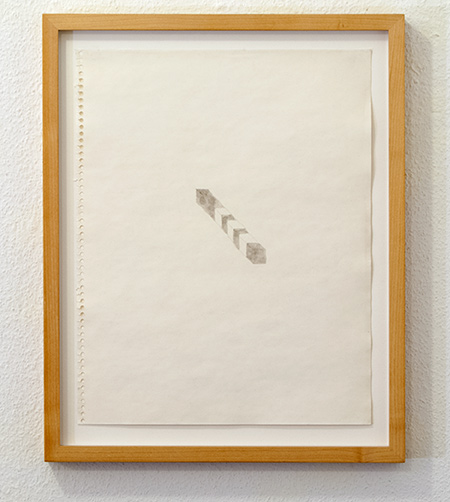 Richard Tuttle / Grey Bar  1974  35.6 x 28 cm pencil and watercolor on paper