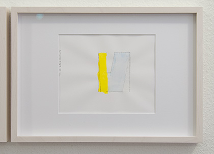 Richard Tuttle / Division # I – 3 RT'14  2014  22 x 31 cm Pencil, colored crayon and watercolor on paper