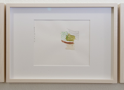 Richard Tuttle / Division # I – 6 RT'14  2014  22 x 31 cm Pencil, colored crayon and watercolor on paper