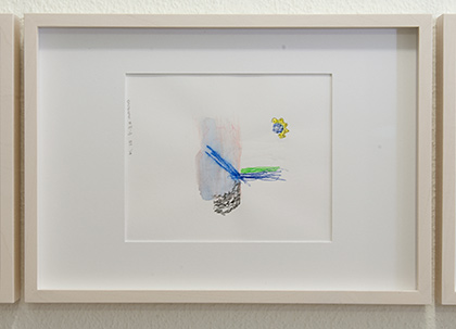 Richard Tuttle / Division # II – 4 RT'14  2014  22 x 31 cm Pencil, colored crayon and watercolor on paper