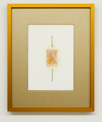 Richard Tuttle / Fake Gold No. 3  2015  each 43 x 34.5 cm / 34.5 x 43 cm pastel and pencil on paper